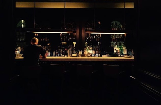 This shot of the main bar reminds me a bit of a lonely Edward Hopper. Photo cred: DIana Molina