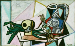 Still Life with Skull, Leeks, and Pitcher, March 14, 1945